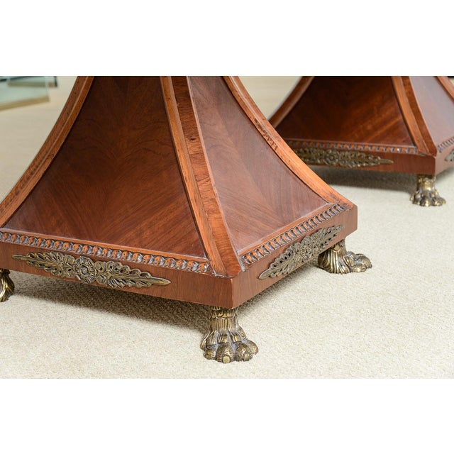 Regency Style Granite Top Oversize Library Table With Bronze Claw Feet For Sale - Image 9 of 12