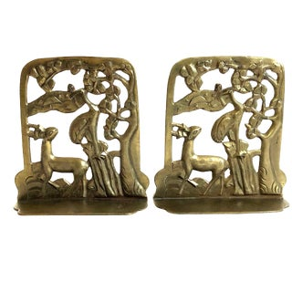 Antique Asian Brass Bookends For Sale