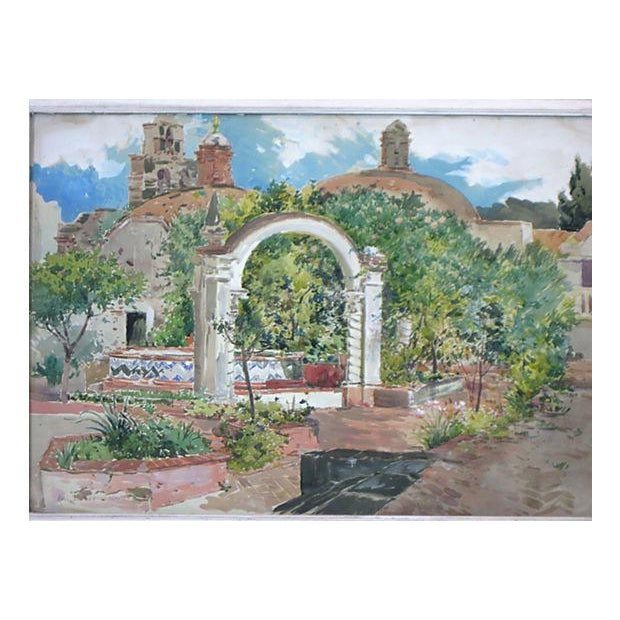 Realism Mexican Plaza Painting For Sale - Image 3 of 4