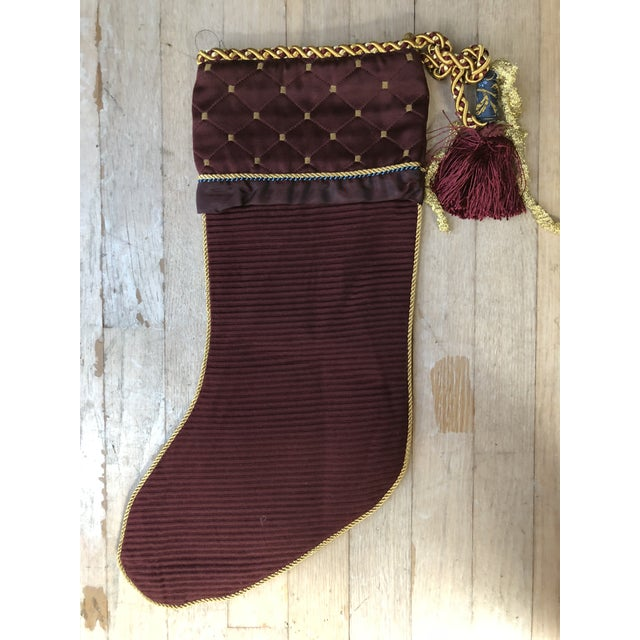 Christmas Stocking with Gold Lion on Cuff For Sale - Image 4 of 5