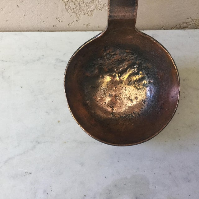 French Country 19th Century French Copper Ladle, Dehillerin Paris For Sale - Image 3 of 6