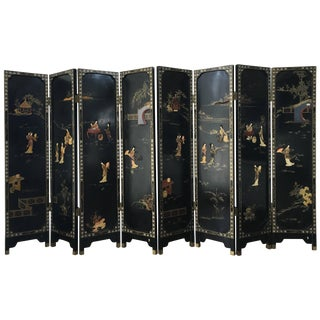 Pair of Four-Panel Reversible French Chinoiserie Coromandel Screens Paris, 1920s For Sale