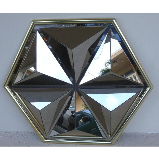 1970s 1970s Mid Century Modern Pyramid Mirror For Sale - Image 5 of 6