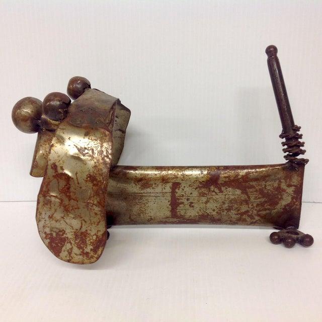 Brutalist Industrial Steampunk Weiner Dog Sculpture For Sale - Image 3 of 5