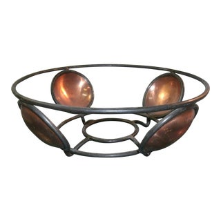 Rustic Metal Storage Bowl For Sale