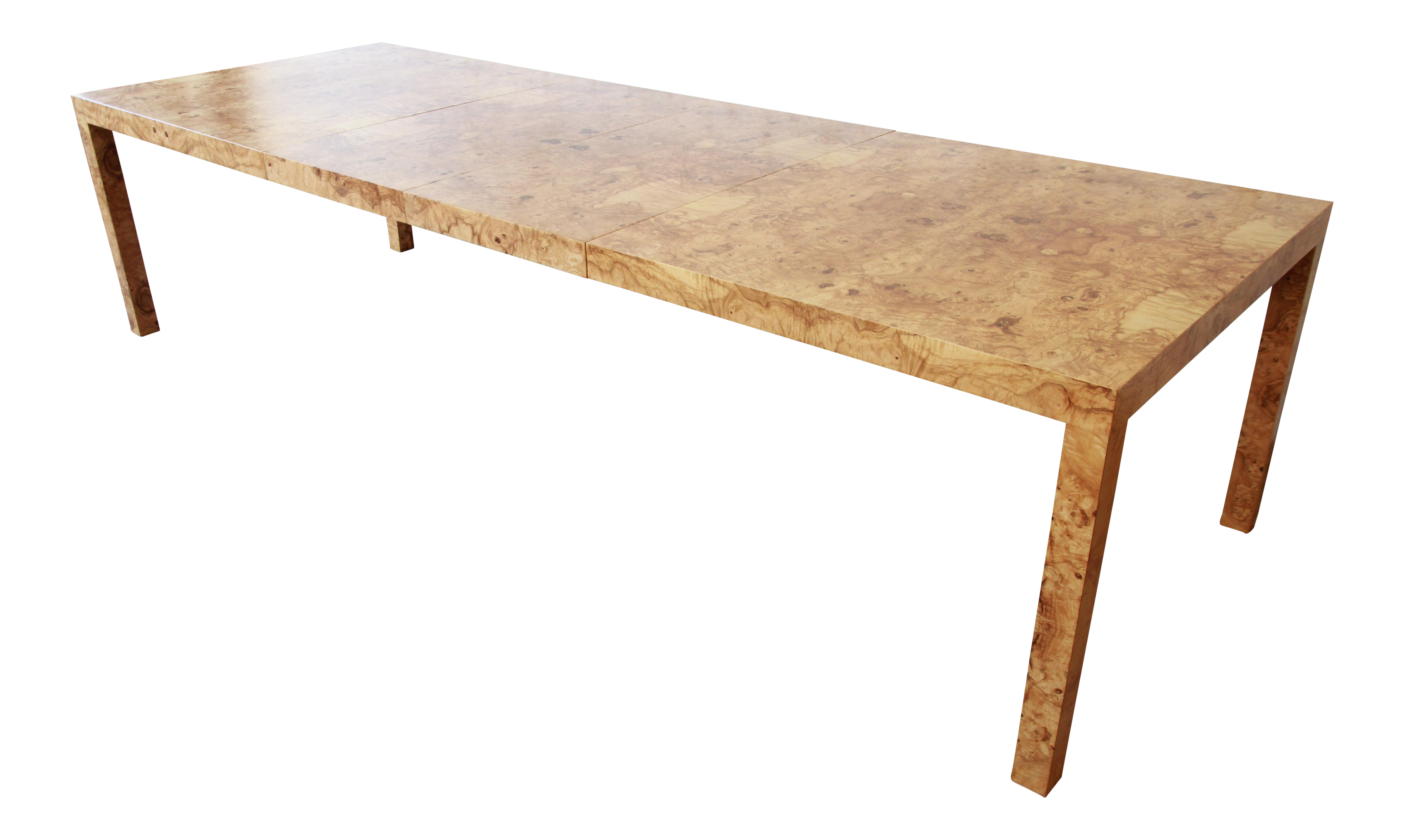 Delicieux Milo Baughman For Directional Burl Wood Parsons Extension Dining Table    Image 12 Of 12