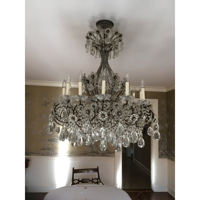 Late 20th Century Late 20th Century Italian Copper and Crystal 12 Light Chandelier For Sale - Image 5 of 5