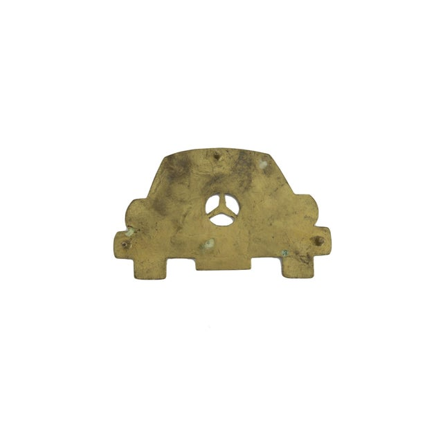 Vintage 1983 Mercedes Benz Car Solid Brass Iron Rest Hot Plate Pad Trivet Stand - Image 2 of 4