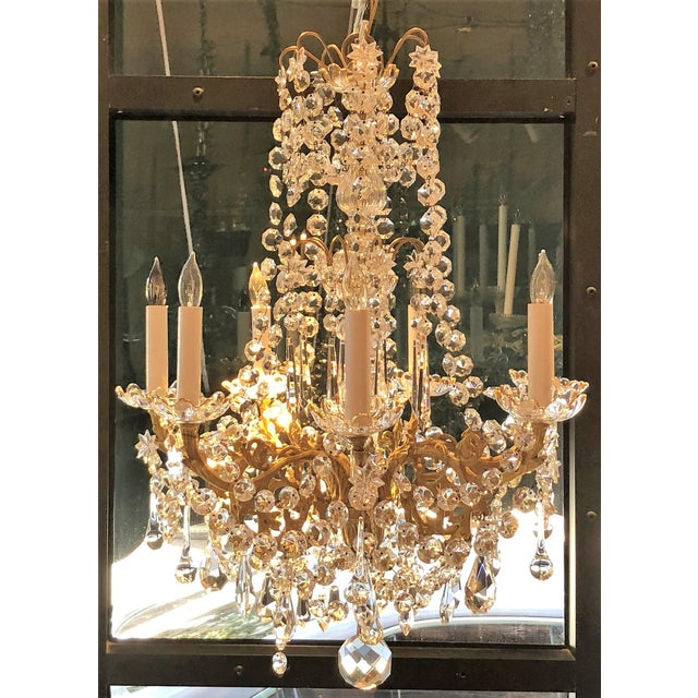 Belle Epoque Antique French Fine Crystal and Bronze d'Ore Chandelier, Circa 1910-1920. For Sale - Image 3 of 3