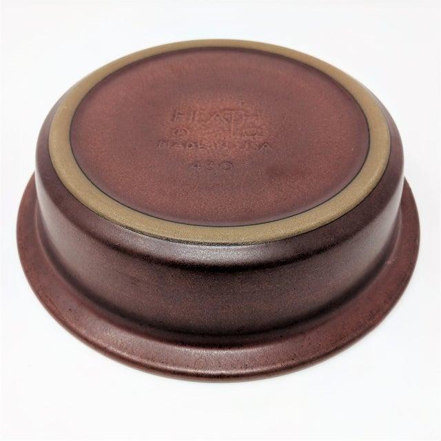 Edith Heath 1980's Vintage Heath Ceramics Rim Line Serving Bowl For Sale - Image 4 of 8