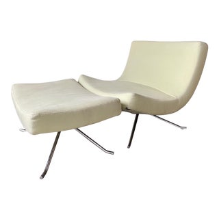 Lounge Chair & Ottoman Designed by Christian Werner for Ligne Roset For Sale