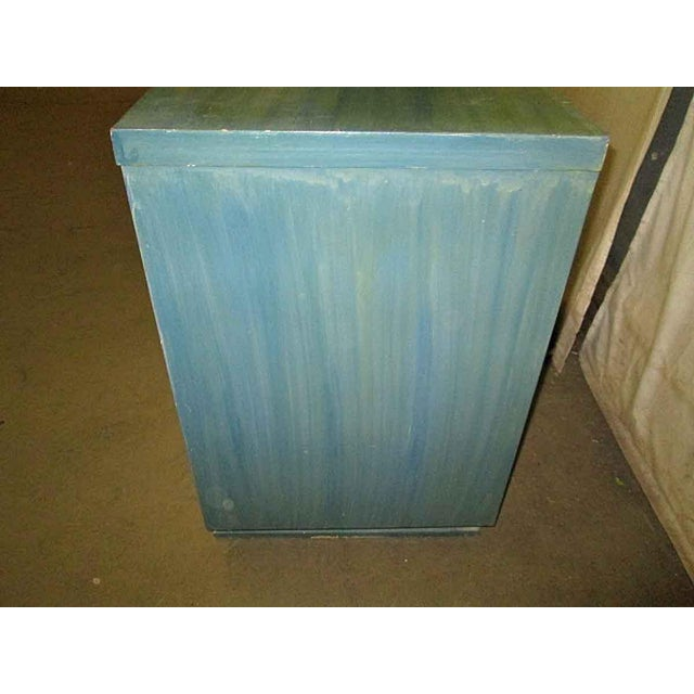 Mid-Century Blue Finish Wooden Dresser - Image 6 of 7