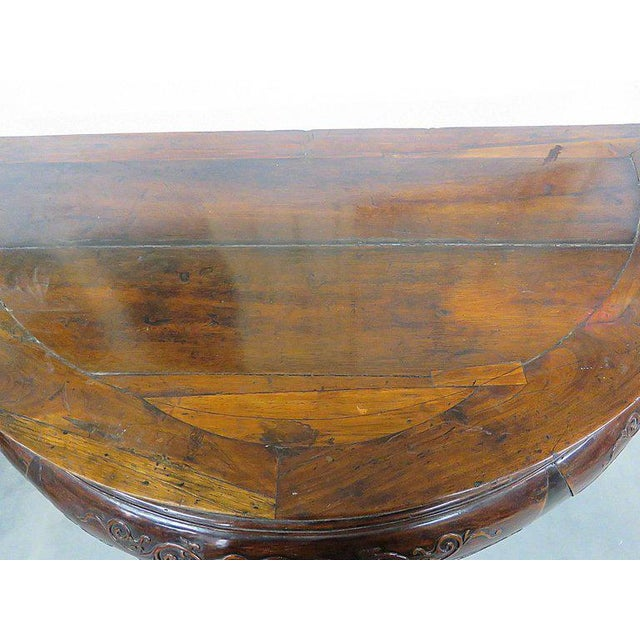 Antique Demilune Hall Table For Sale In Philadelphia - Image 6 of 13