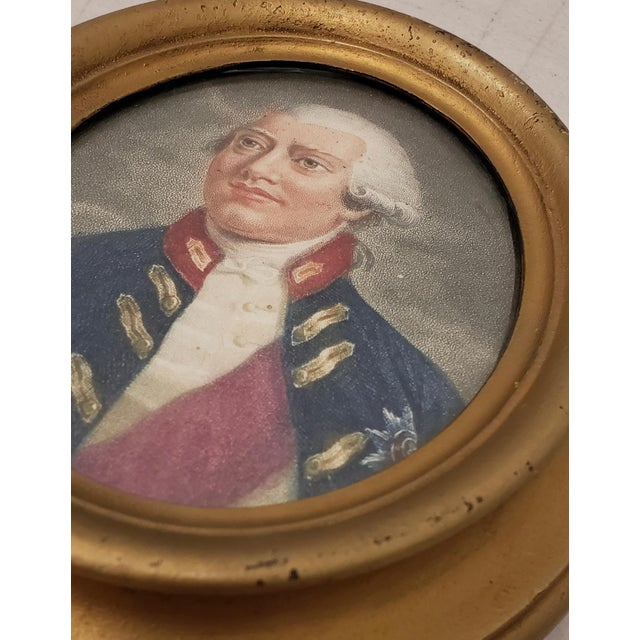 Early 19th Century Hand Colored Miniature Portrait Engraving of King George III c.1804 The fine miniature portrait still...