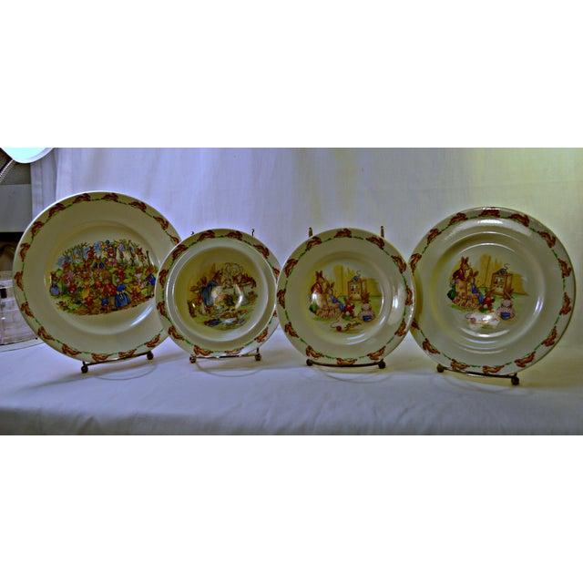 Traditional Vintage Kids Dinner Set For Sale - Image 3 of 10