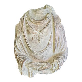 5th Century Indian Headless Bust Stone Carving of a Princess For Sale