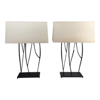 Visual Comfort Willow Buffet/Table Lamps - A Pair For Sale