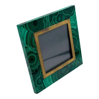 Vintage Malachite and Gold Vermeil Frame - Cartier Style For Sale