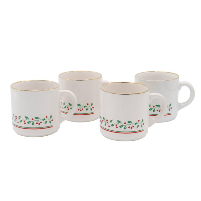 Ceramic Arby's 1987 Christmas Cups - Set of 4 For Sale - Image 7 of 7