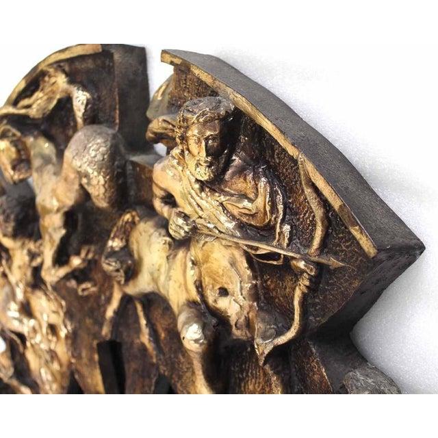 Mid-Century Modern Round Zodiac Sunburst Wall Mirror For Sale - Image 3 of 9