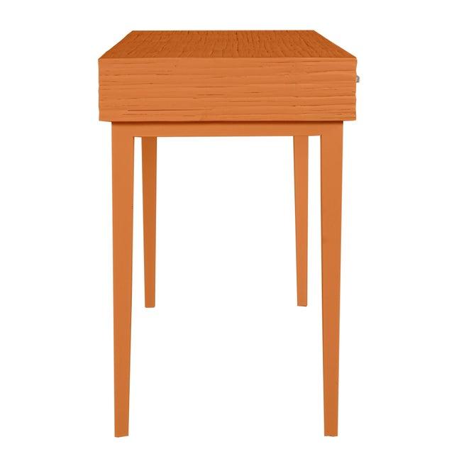 Athena Desk in Citrus Orange For Sale - Image 4 of 8