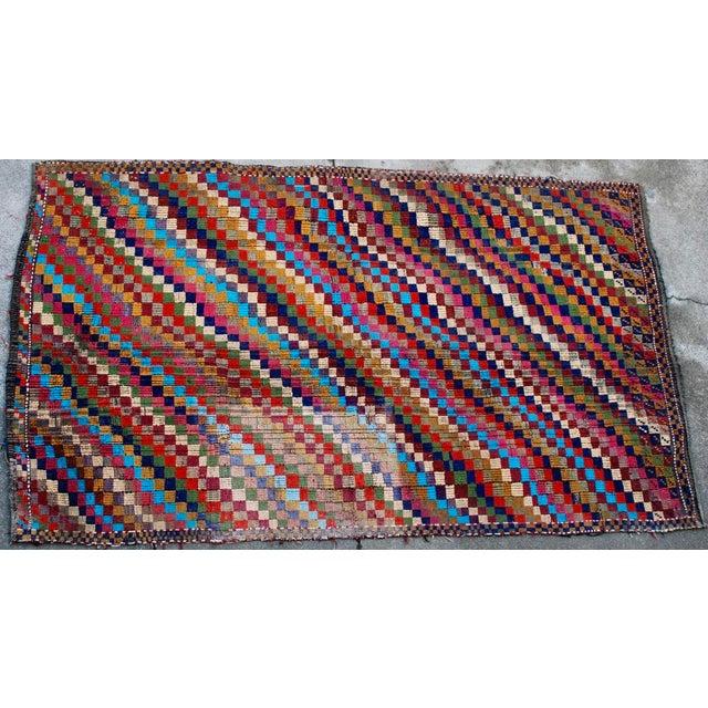 Vintage Handmade Bohemian Kilim Rug - 5'3'' X 8'10'' - Image 6 of 8