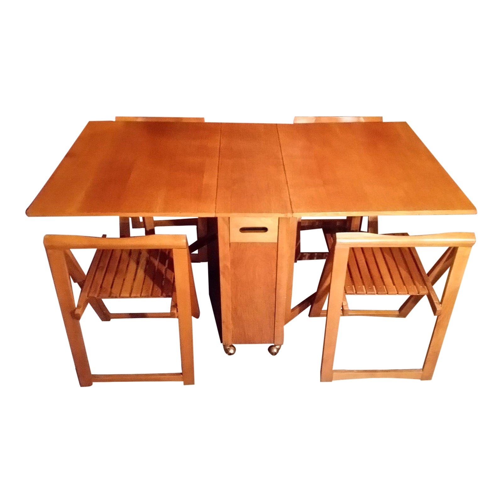 Mid Century Drop Leaf Gateleg Dining Table With Stow Away