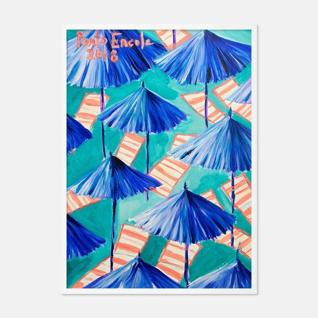 Cabana 9 by Lulu DK in White Framed Paper, Medium Art Print For Sale - Image 4 of 4