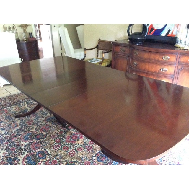 Duncan Phyfe Mahogany Dining Table - Image 4 of 6