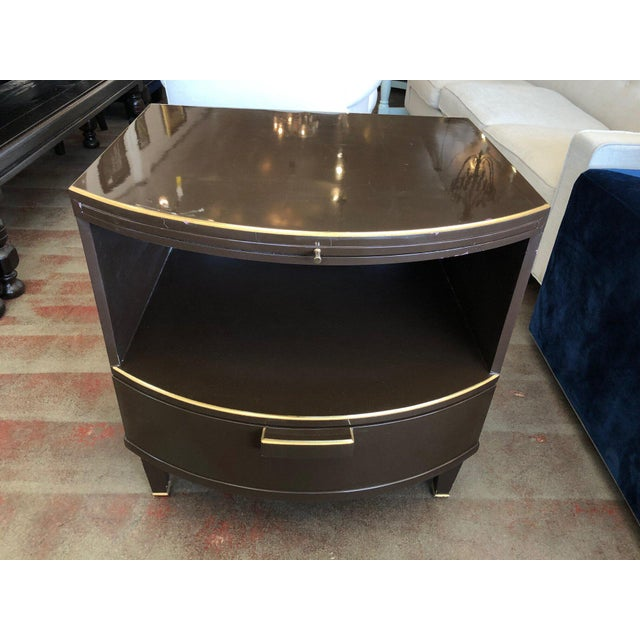 Deco Style Nightstand With Rounded Front For Sale - Image 12 of 12