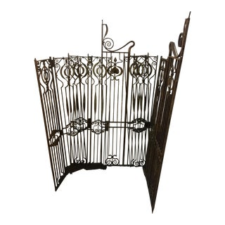 1910 English Art Nouveau Wrought Iron Gates - Set of 6
