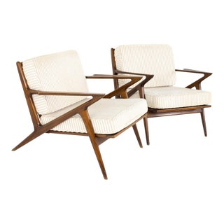 Poul Jensen for Selig Mid Century Z Lounge Chair - Pair For Sale