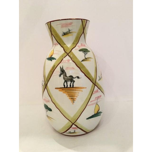Italian Majolica Donkey Vase - Image 2 of 11