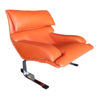 """A Classic """"Onda"""" Lounge Chair Designed by Giovanni Offredi and Made by Saporiti Italia C. 1970s For Sale"""
