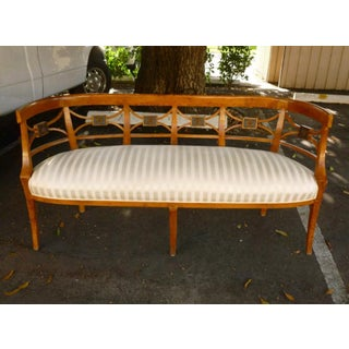 19th C Italian Neoclassical Fruitwood Settee Preview
