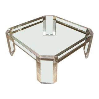 Charles Hollis Jones Model 505 Lucite and Glass Coffee Table For Sale