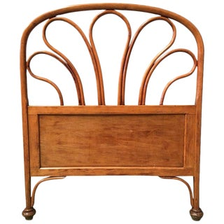 20th Century Vienna Secession Single Bentwood Headboard in Jacob and Josef Kohn Style For Sale