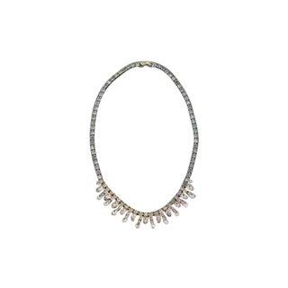 Vintage Rhinestone Collar Necklace For Sale