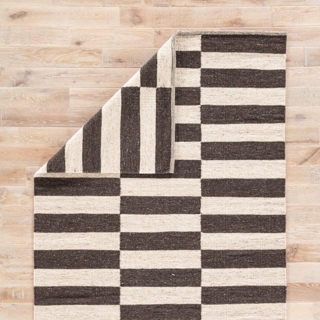 Jaipur Living Demi Handmade Striped Brown/ Cream Area Rug - 2′ × 3′ For Sale - Image 4 of 6