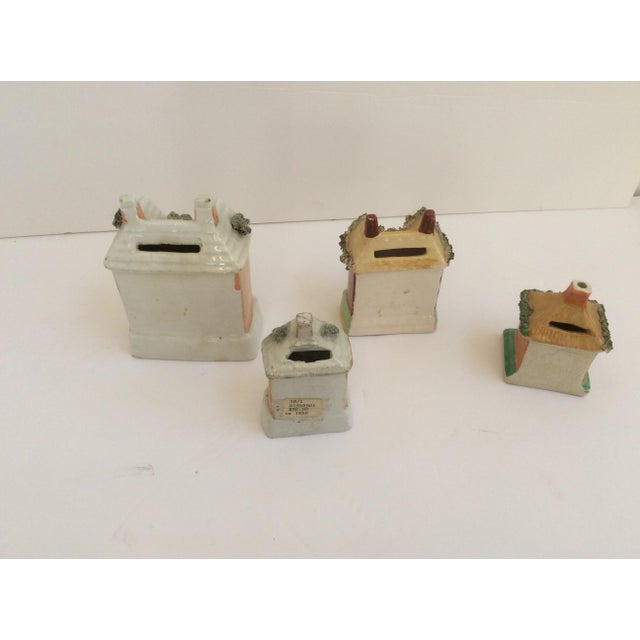 Staffordshire House Banks - Set of 4 For Sale In San Antonio - Image 6 of 9