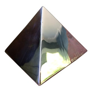 Diego Matthai Stainless Steel Pyramid Form Table Sculpture