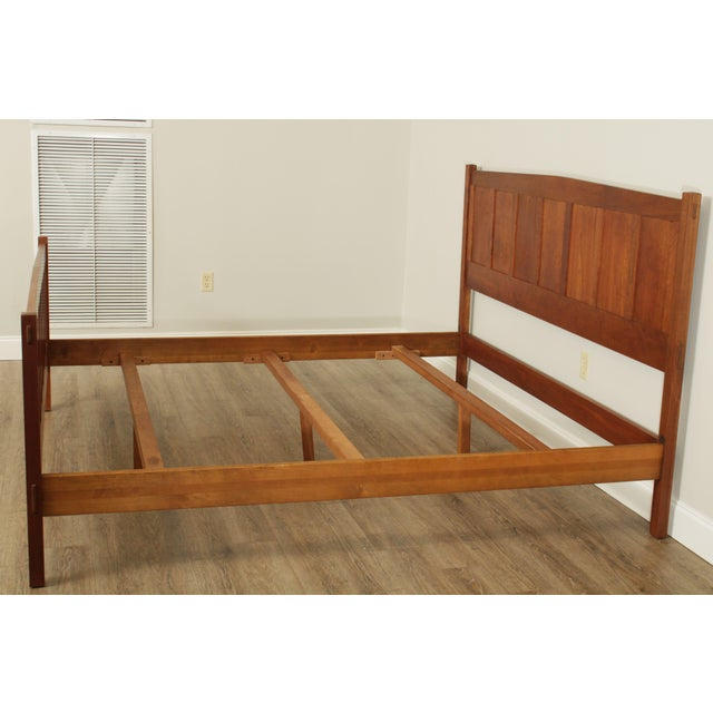 Stickley Stickley Mission Collection King Size Cherry Panel Bed For Sale - Image 4 of 12