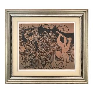 """Vintage Picasso Linocut """"Danseurs Et Musicien"""" For Sale"""