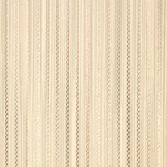 Contemporary Schumacher X Simply Charming Sanford Strie Wallpaper in Bone For Sale - Image 3 of 3