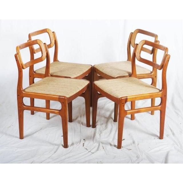 Tan Danish Teak Chairs by Uldum Møbelfabrik, 1960s - Set of 4 For Sale - Image 8 of 11