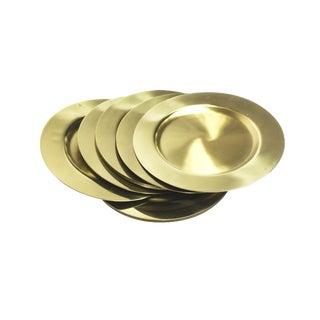 Vintage Mid Century Solid Brass Beuclér Plates - Set of 12