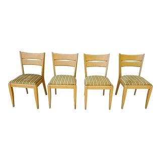 Mid Century Modern Heywood Wakefield Cat Eye 151 Dining Chairs- Set of 4 For Sale