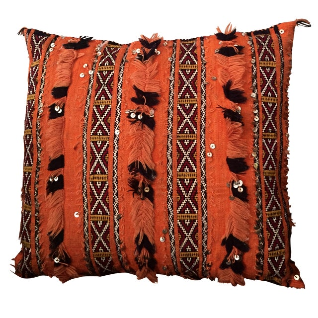 Tangerine Dream Berber Pillow - Image 1 of 5