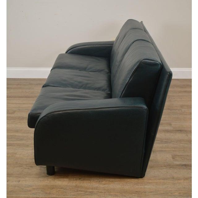 I4 Mariani For Pace Dark Hunter Green Italian Leather Sofa