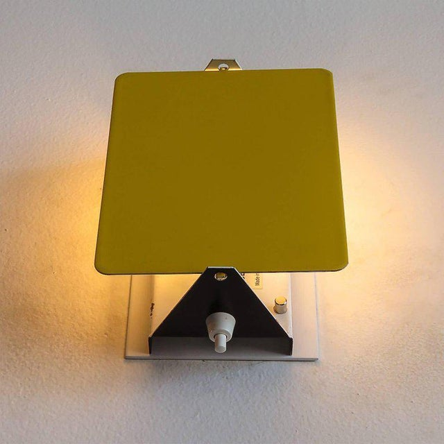 Metal Charlotte Perriand Cp-1 Wall Lights Yellow For Sale - Image 7 of 10